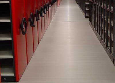 Emissievrije vloer archiefbewaarplaats